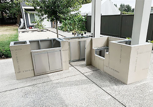 Outdoor Kitchen Foundation