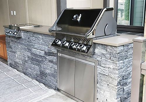 Outdoor Kitchen Display With Sink