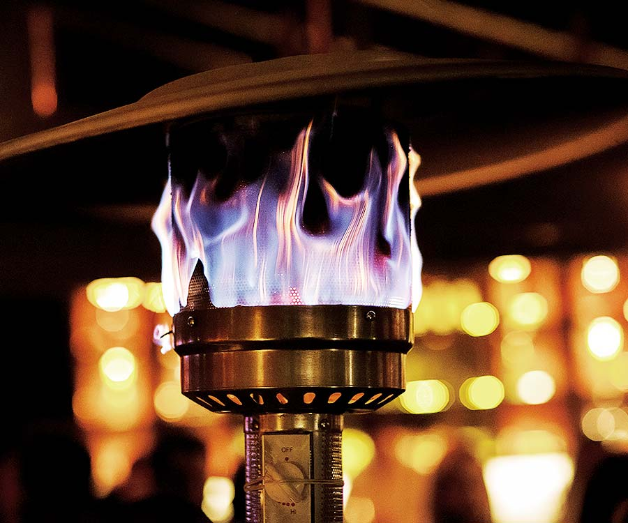 Patio Heater With Flames