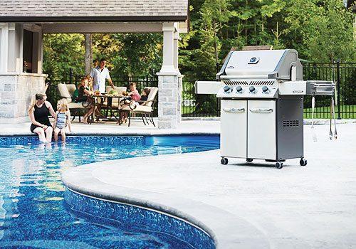 New Grill Near Pool