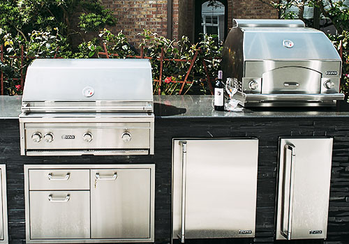 Outdoor Kitchen Display With Two Fridges #2
